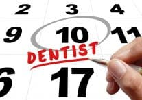 Be sure to make those dental appointments every six month for optimal oral health.