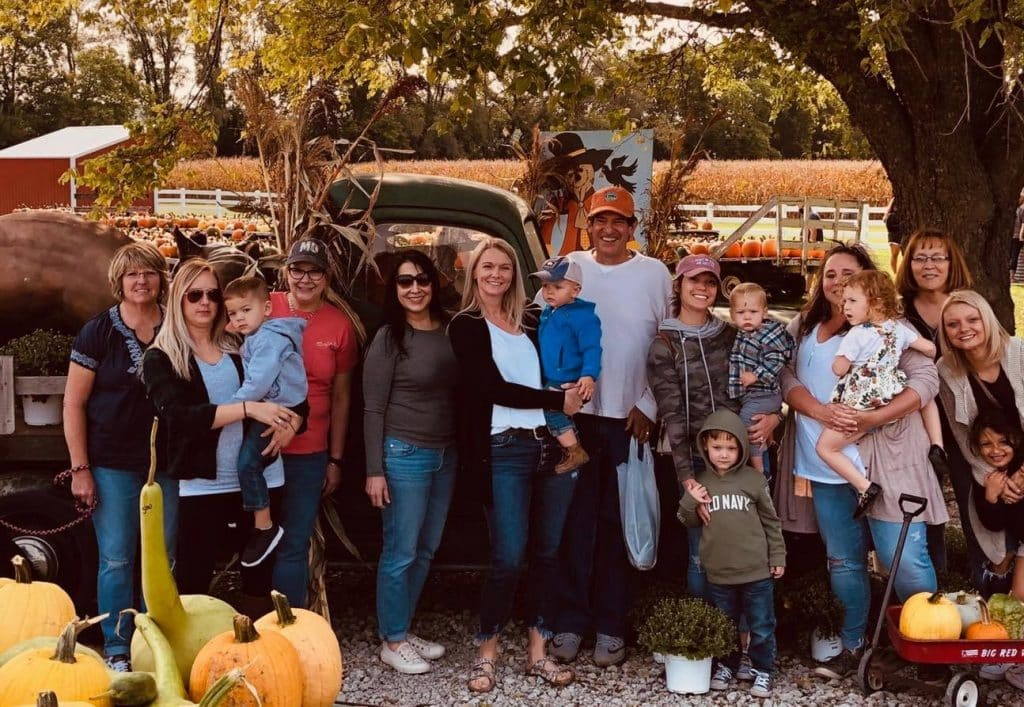 Staff outing at Pumpkin patch, Foundations of Health Dental Care, St. Joseph, MO